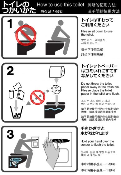 how to use toilet japan