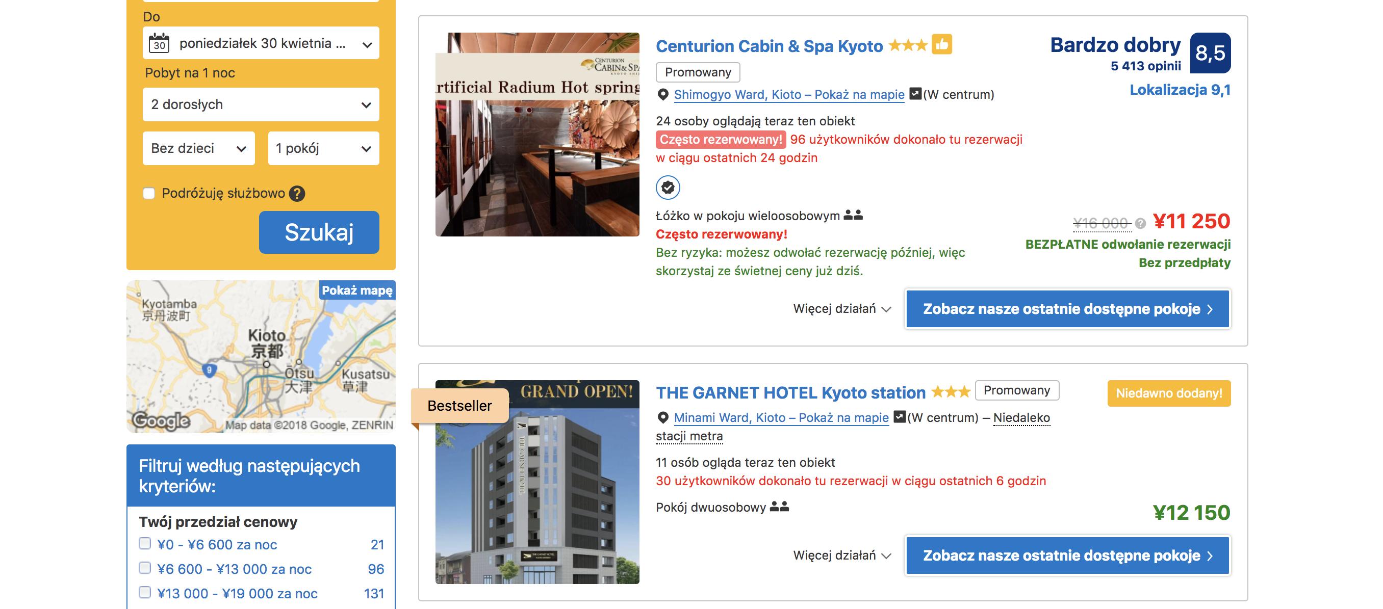 hotele Japonia