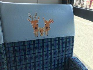 Zagłówki w autobusach miejskich w Narze
