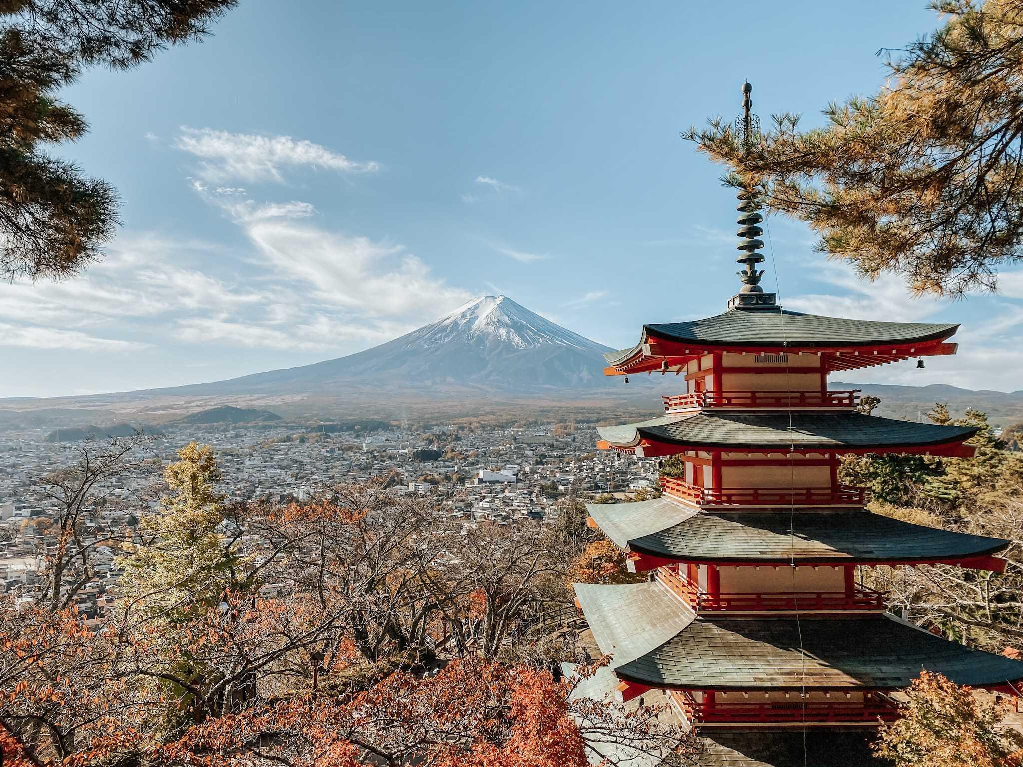 chureito pagoda góra fuji wycieczka