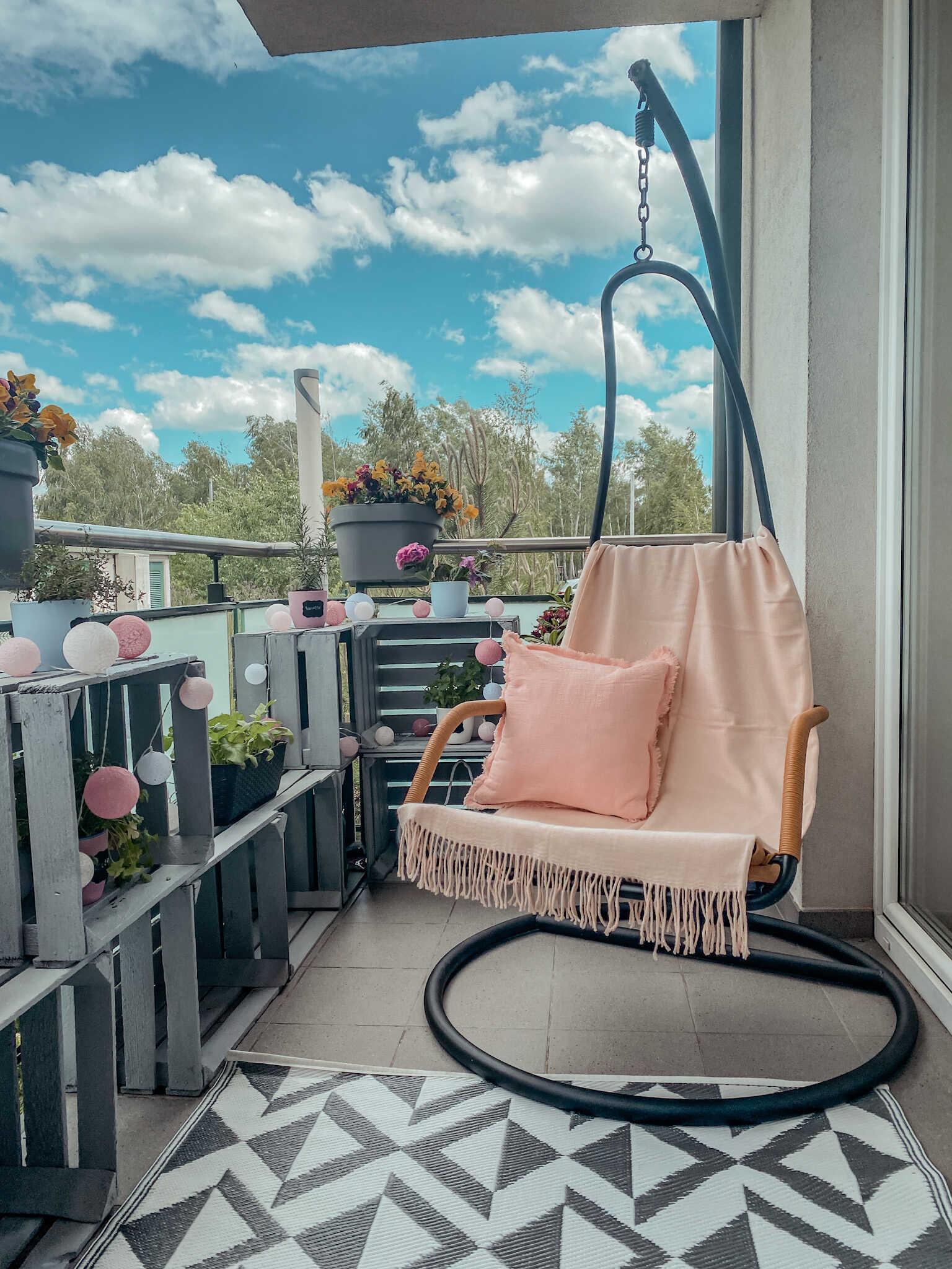 fotel wiszący nabalkon